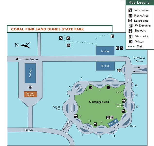 Coral Pink Sand Dunes State Park (Facilities Map)