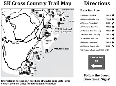 Claytor Lake State Park (Cross Country Trail Map)