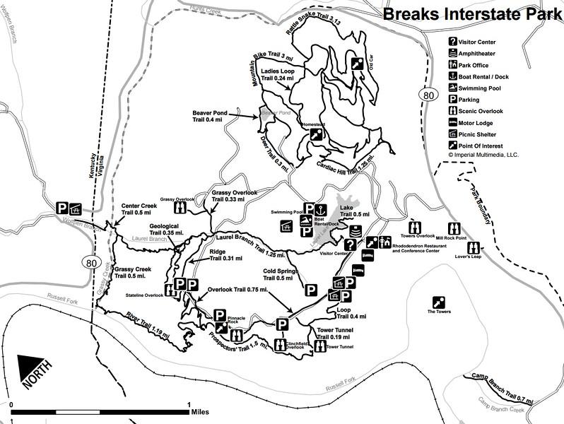 Breaks Interstate Park (Trail Map)