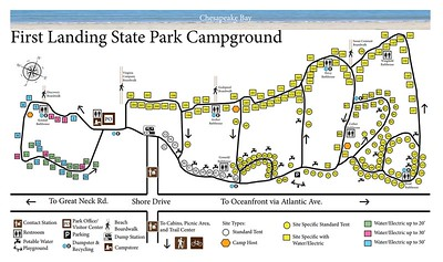 First Landing State Park (Campground Map)