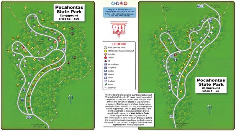 Pocahontas State Park (Campground Map)