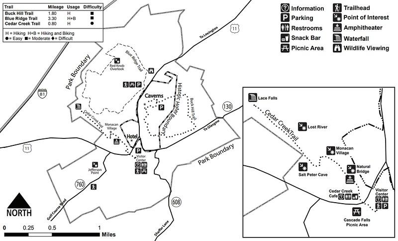 Natural Bridge State Park (Trail Map)