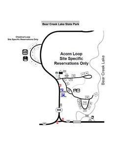 Bear Creek Lake State Park (Campground Map)