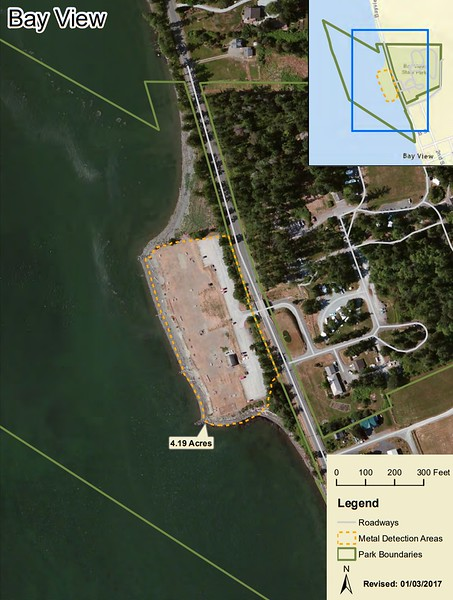 Bay View State Park (Metal Detection Areas)