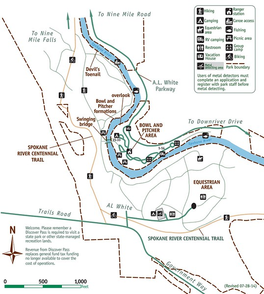 Riverside State Park (Bowl and Pitcher Area)