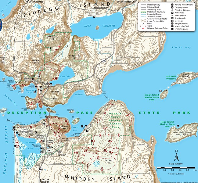 Deception Pass State Park (Topographic Map)