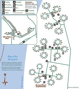 Cape Disappointment State Park (Campground Map)
