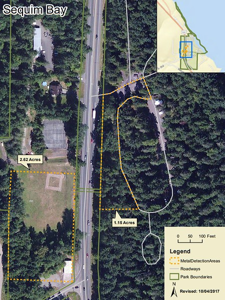 Sequim Bay State Park (Metal Detection Areas)