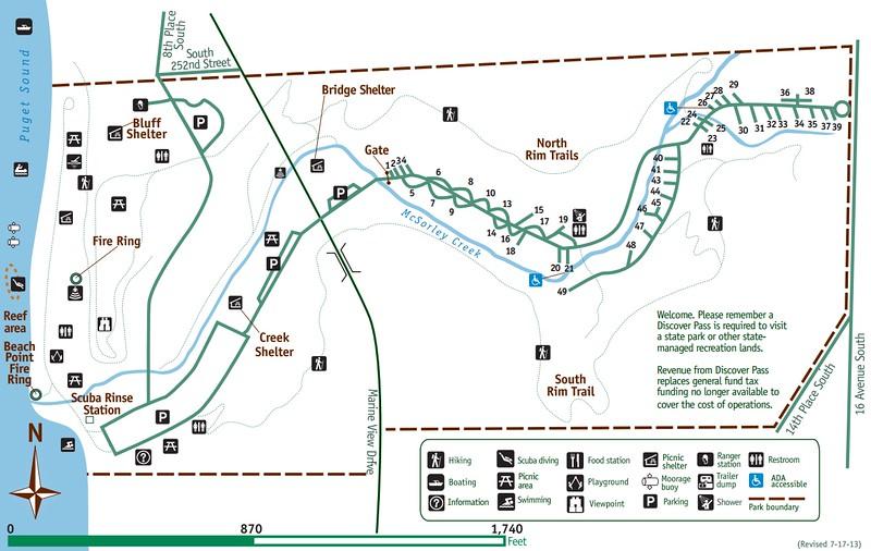 Camping Washington State Map.Washington State Park Maps Dwhike