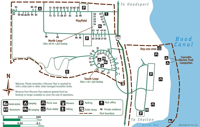Potlatch State Park (Campground Map)