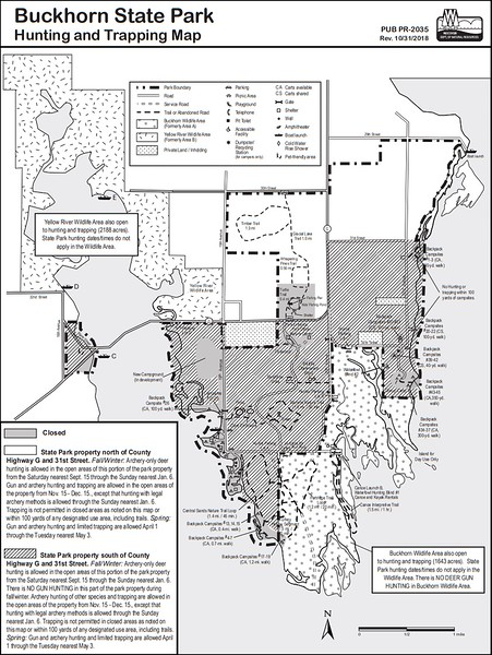 Buckhorn State Park (Hunting Map)