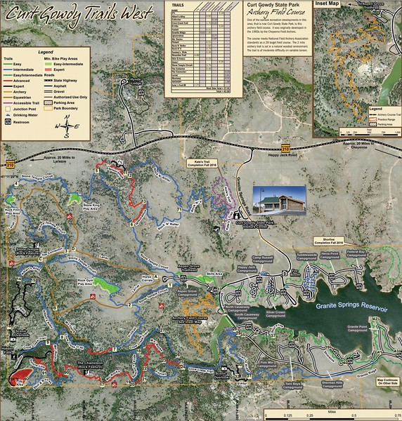 Curt Gowdy State Park (Trail Map - West)
