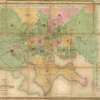 1852 Baltimore city map