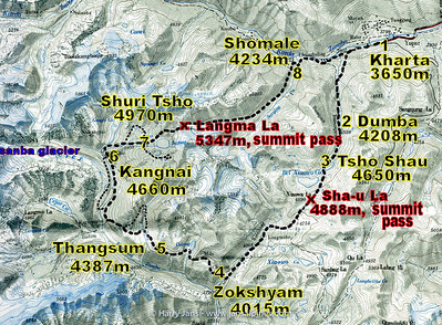KangshungTrekking Route