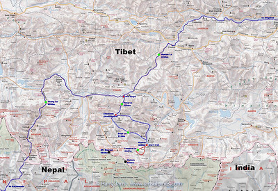 Tibet Kangshung valley. map 2