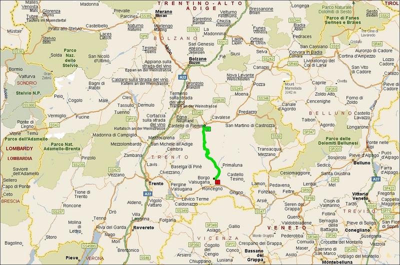 Passo del Manghen, Italy - overview.