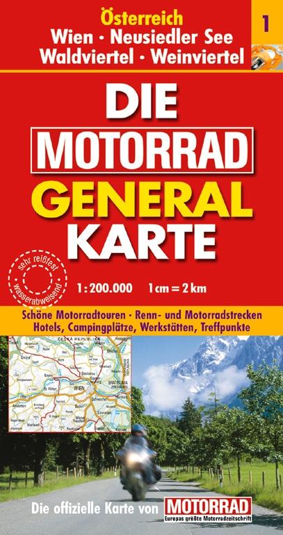 Die Motorrad General Karte - Austria & Süd Tirol