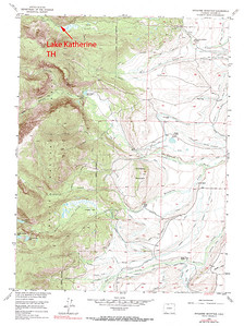 Lake Katherine trailhead.  Used to get to Lake Katherine in the Mt. Zirkel Wilderness area of Colorado.  USGS GeoTIFF DRG 1:24000 Quad of Pitchpine Mountain. Product:444944