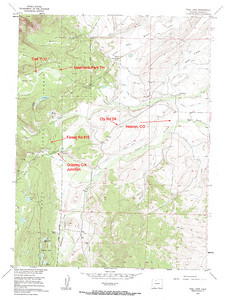Older topo of Newcomb Park and Teal Lake.  The forest access road #615 is the general location.  But it does take off from Grizzley Junction.  If you don't take the Teal Lake turnoff, you will end up on Buffalo Pass/Summit Lake.  USGS GeoTIFF DRG 1:24000 Quad of Teal Lake. Product:444962