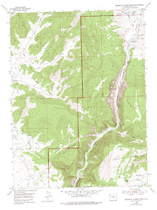 Map that shows the put in place for the Gates of Lodore, Green River, rafting trip.  Not marked, but easy to see.  It's very close to the top of the map on the Green River where it shows the Lodge/Ranger station.  Just before the Green River enters the Gates of Lodore.  USGS GeoTIFF DRG 1:24000 Quad of Canyon of Lodore North. Product:448097