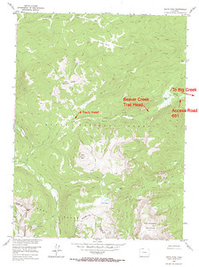 USGS GeoTIFF DRG 1:24000 Quad of Davis Peak. Product:444909