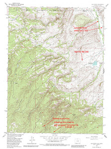 North of Rawah Wilderness Area, CO.  Shows national forest road to access Medicine Bow Trail that then leads into the Rawah WA through the northern boundary.