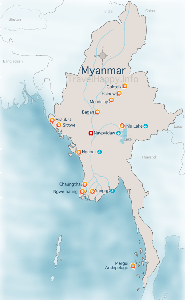 Inle Lake Things To See And Do – Tourist Map Of Myanmar