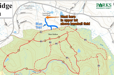 Main Sunday Runs meeting point. Entrance trails to Ward Pound Ridge Reservation via Lewisboro Town Park in South Salem, NY (off of Route 35).