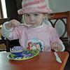 Mara likes her cake!