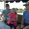 Fun driving the electric boat on Duck Lake