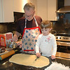 Making cinnamon buns with Grandpa - 2008