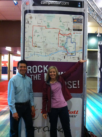 Cathy and I at the expo.  Route this year was new and looks really good!