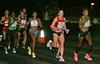 Elite female runners at mile 17
