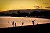 Ala Moana Beach park at dusk