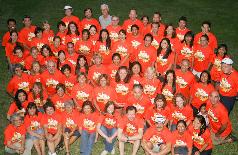 The 2011 Training in their finisher's shirts the day after the 2011 Honolulu Marathon.