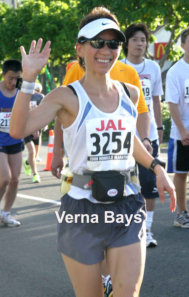 Verna Bays.  Before I joined the training I never ran more than two miles an outing, so I wasn't sure if I could complete a marathon.  Early in the training I realized I could do it.  I hadn't anticipated the way the group would energize, motivate, and support me.
