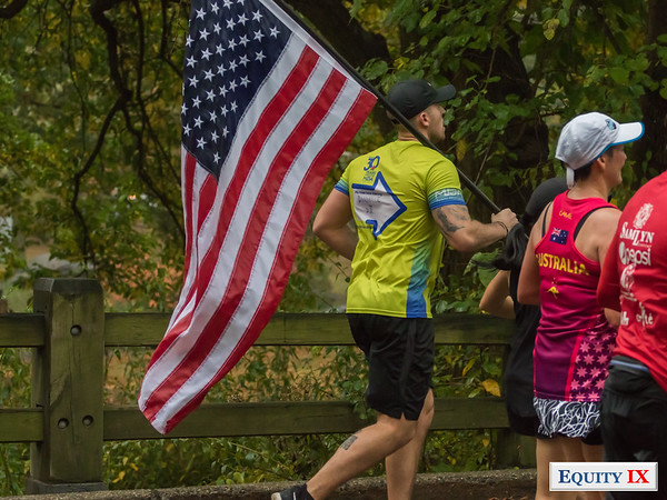 2017 NYC Marathon - Mile 25 - USA Flag © Equity IX - SportsOgram