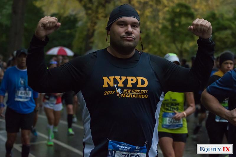 2017 NYC Marathon - Mile 25 - Damien Fils Aime © Equity IX - SportsOgram
