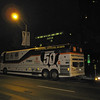 This is The Mothership -- the bus that takes Dean and his family from state to state. It is parked at Nollen Plaza in Des Moines before sunrise on Friday, September 22.