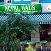 Här åt jag dal bhat tarkari, dvs ris, linser och grönsaker