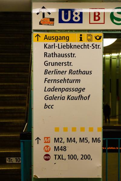 På väg mot Alexanderplatz