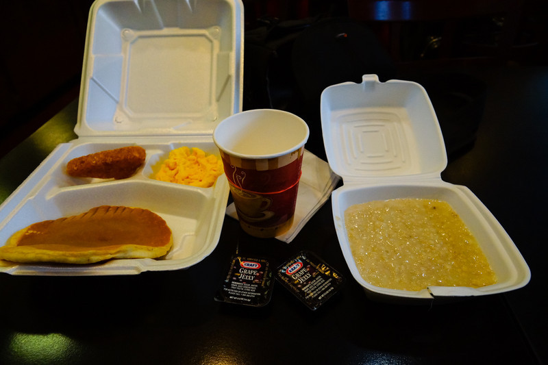 Frukost, allt i engångsförpackningar