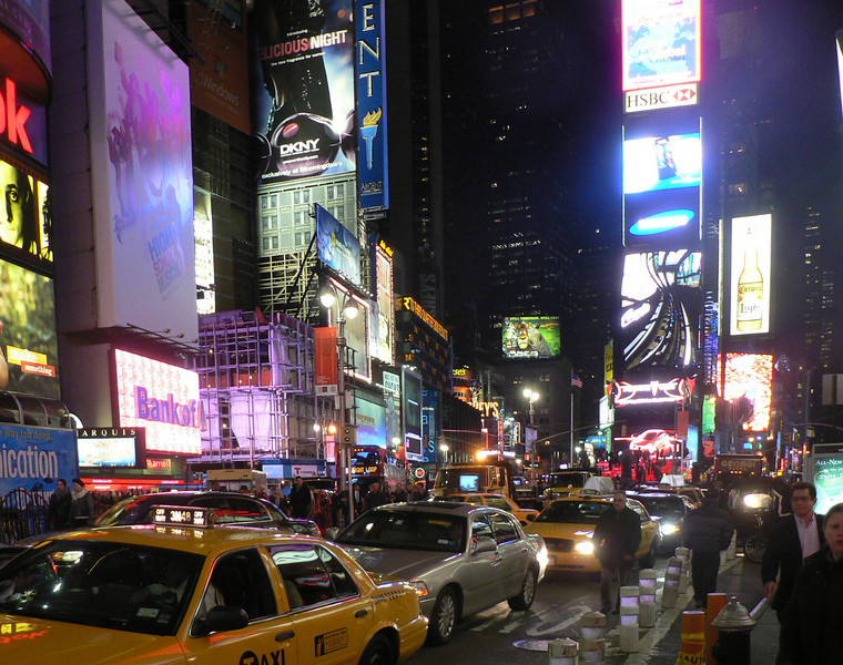 Kväll på Times Square