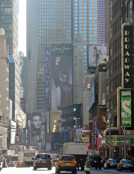 På väg mot Times Square