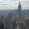 Empire State Building, 381 m (443 m med tornspira och radiomast)