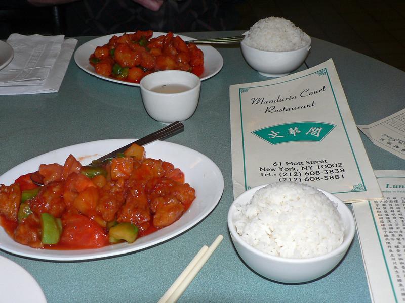 Lunch på Mandarin Court