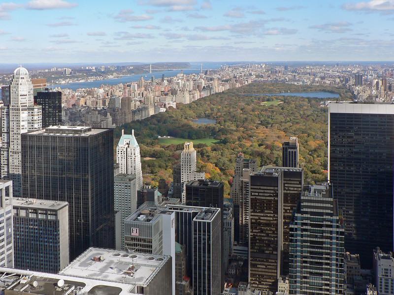 Vy mot norr och Central Park. Yta 3.4 km2