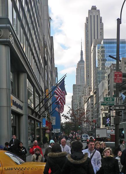På väg till Rockefeller Center