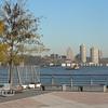 Vy västerut över Hudsonfloden