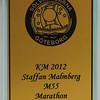 Klubbmästare  M55 för andra året i rad. Dessutom klubbmästare i marathon totalt om man ålderskompenserar.
